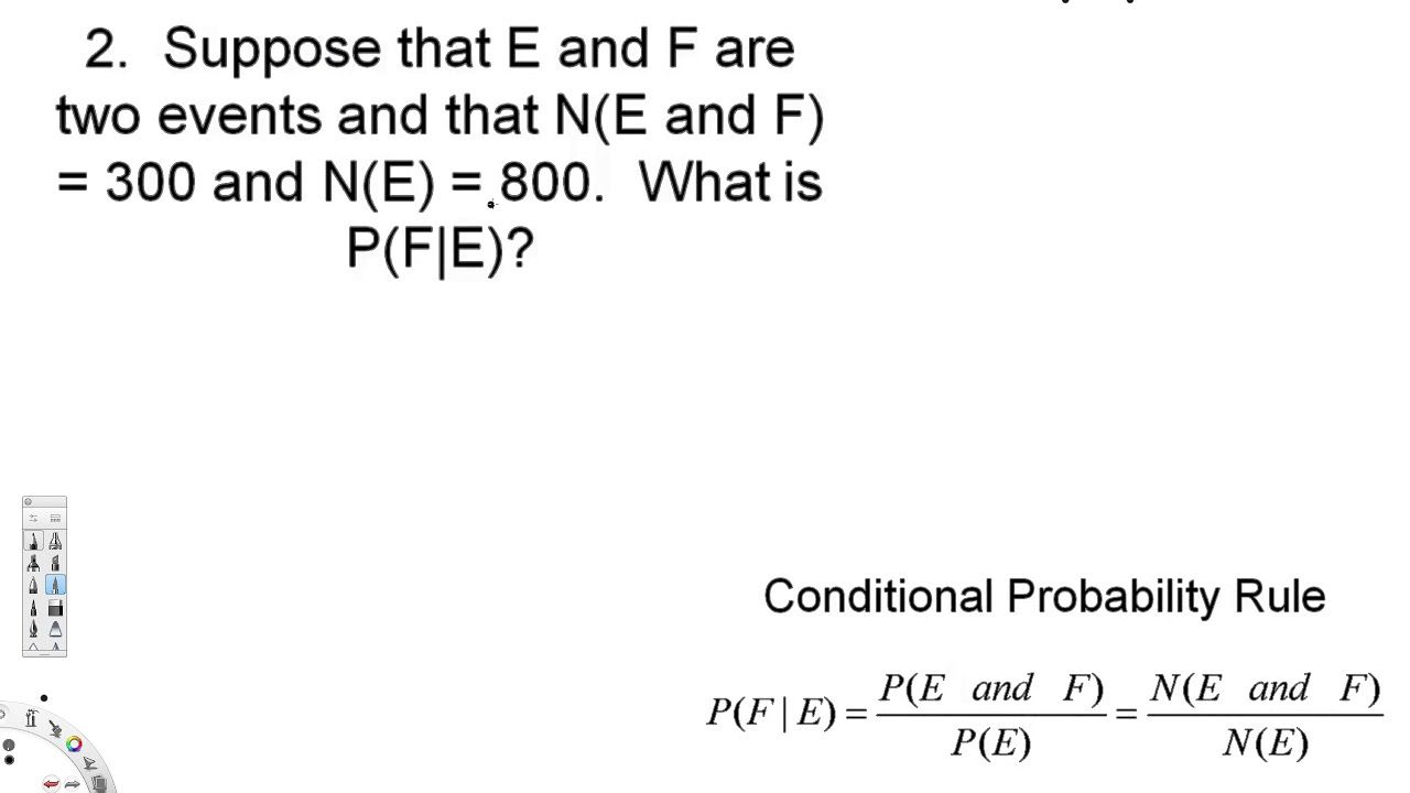 Elementary Statistics  Conditional Probability And The General