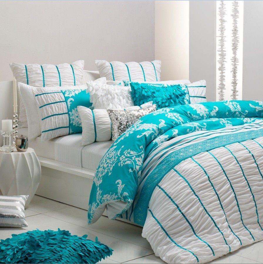 Turquoise Blue White Beach Theme Kitchen: Beach Bedding Sets On Pinterest