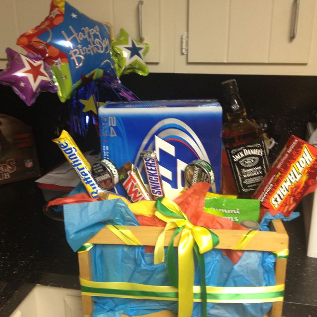 Country Boy Birthday Basket