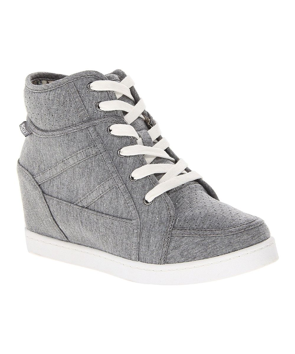 best service e3b60 a7496 Roxy Gray Alexa Hi-Top Wedge Sneaker