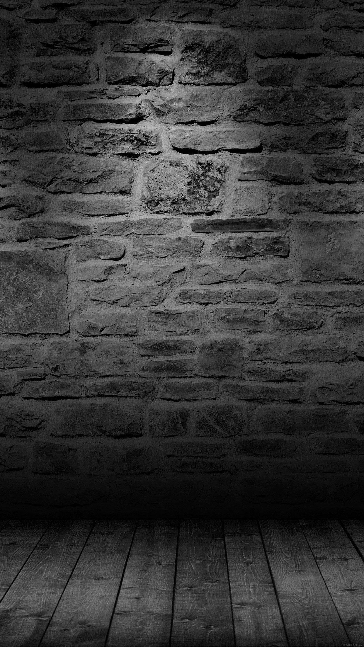 Wall Dark Bw Texture Pattern iPhone 6 Wallpaper Download
