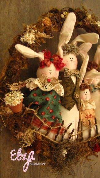 coelhos patchwork - Pesquisa Google