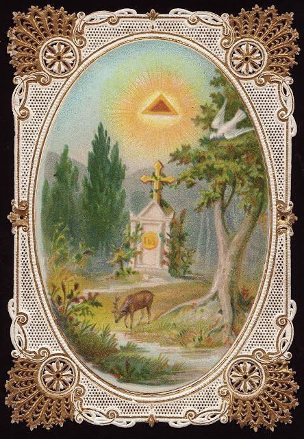Holy Card Heaven: As the deer longs for streams of living water, so my soul longs for you, O God. Psalm 42