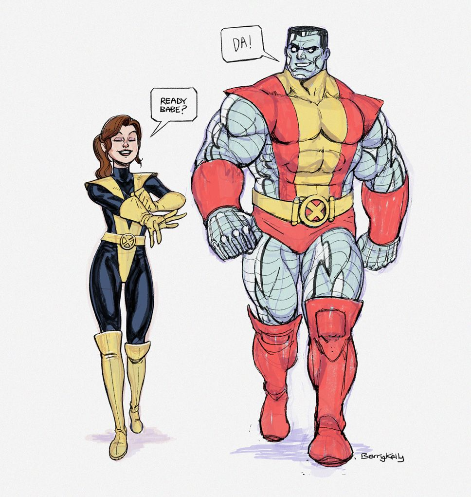 Kitty Pryde and Colossus by Terry Dodson : xmen |Shadowcat And Colossus Child