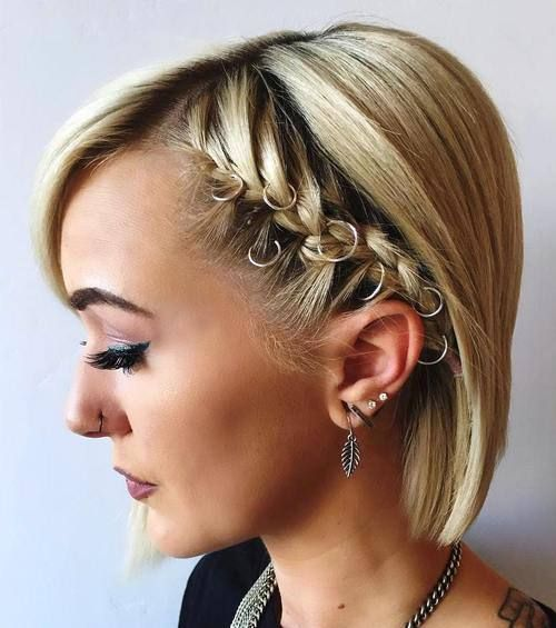 40 Hottest Prom Hairstyles For Short Hair The Right Hairstyles For You Prom Hairstyles For Short Hair Braids For Short Hair Popular Short Haircuts