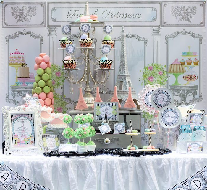 Paris Patisserie Themed Birthday Party