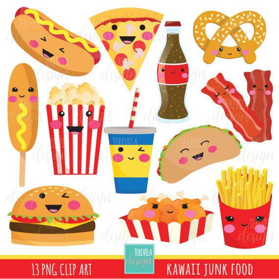 Junk Food Clipart Fast Food Clipart Kawaii Clipart Commercial