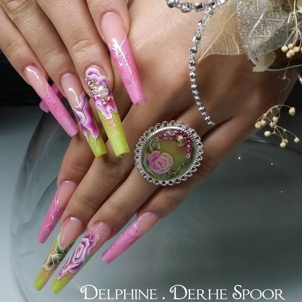 Nail Art Tutorial Nail Designs Nail Art How To One Stroke Flower