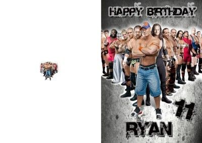Personalised Wwe Birthday Card Wwe Birthday Birthday Cards Cards