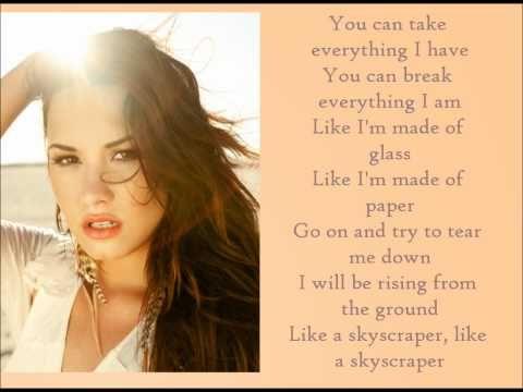 Like A Skyscraper Lovato Song Lyrics And Chords Demi Lovato