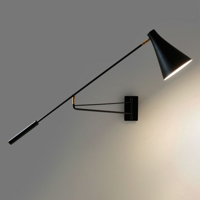 Photo of Jameson Contemporary Adjustable Wall Light in Metal