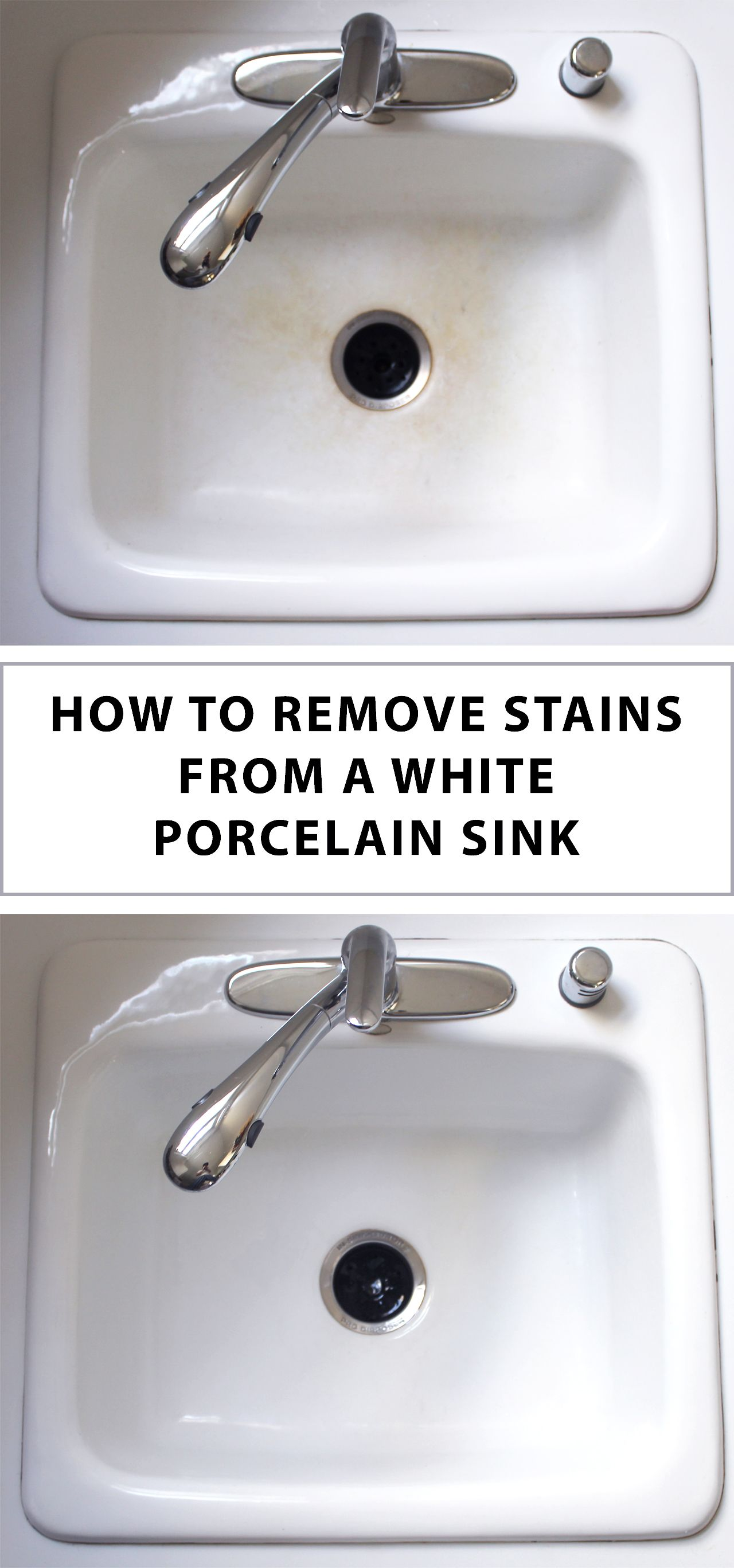 How to clean a kitchen sink in 3 minutes porcelain