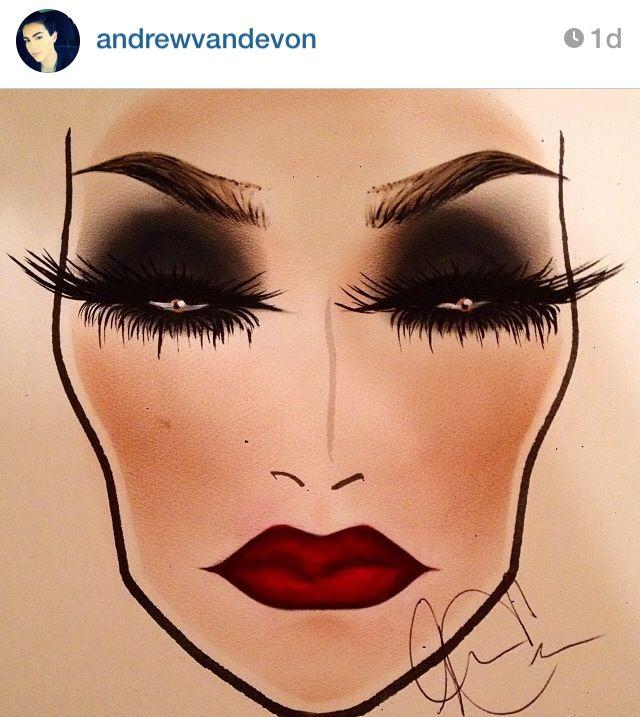 Makeup   Face charts #beauty #facechart