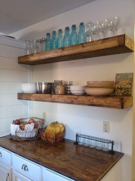 $20 Diy Floating Shelves  Shelving Ideas Kitchen Design And Alluring Kitchen Shelves Design Inspiration Design