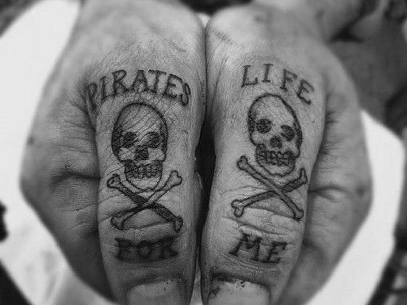 pirate face tattoo needles