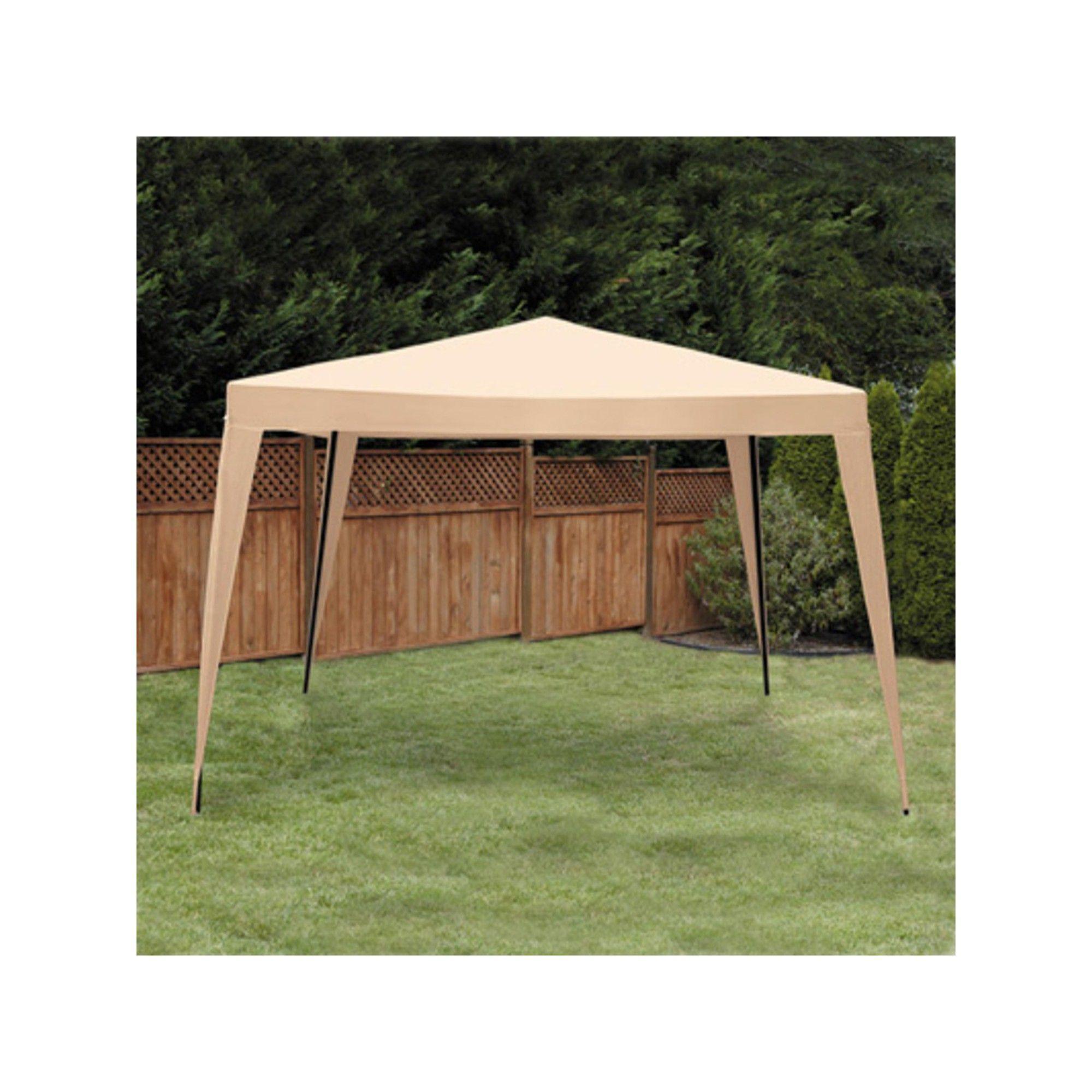 Lb International 10 X 10 Pop Up Outdoor Garden Gazebo Party Tent Canopy Tan In 2020 Gazebo Backyard Gazebo Screened Gazebo