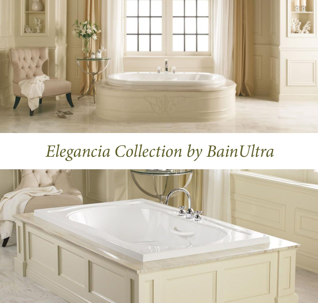 The Elegancia #Therapeutic #Bathtubs Collection By #BainUltra Http://www.