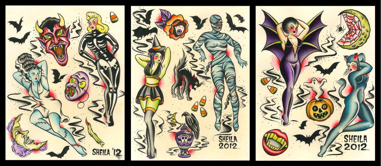 Halloween Tattoo Flash Disney Tattoos In 2020 Tattoo Flash Art Doodle Tattoo Tattoo Drawings