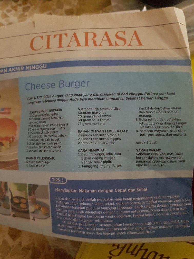 Cheese Burger Resep Burger Roti