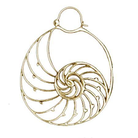 Tawapa Gold Plated Nautilus Hoop