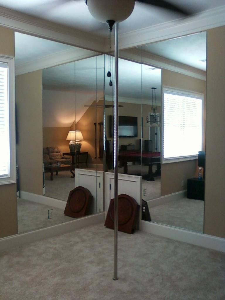 Dancing pole with mirrors for those really crazy party nights when Aunt         has. Dancing pole with mirrors for those really crazy party nights when