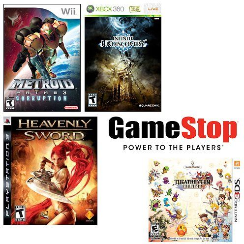 4 For 10 Used Game Sale Gamestop Game Sales Games 10 Things