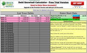 best free debt snowball calculator program excel | journal | Pinterest