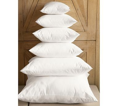 Pottery Barn Pillow Inserts Endearing Featherdown Blend & Synthetic Pillow Inserts #potterybarn  Books Design Inspiration