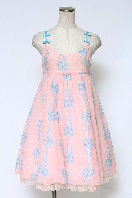 Emily Temple Cute / Dot U0026 Ribbon Sleeveless Dress   Closet Child Online Shop