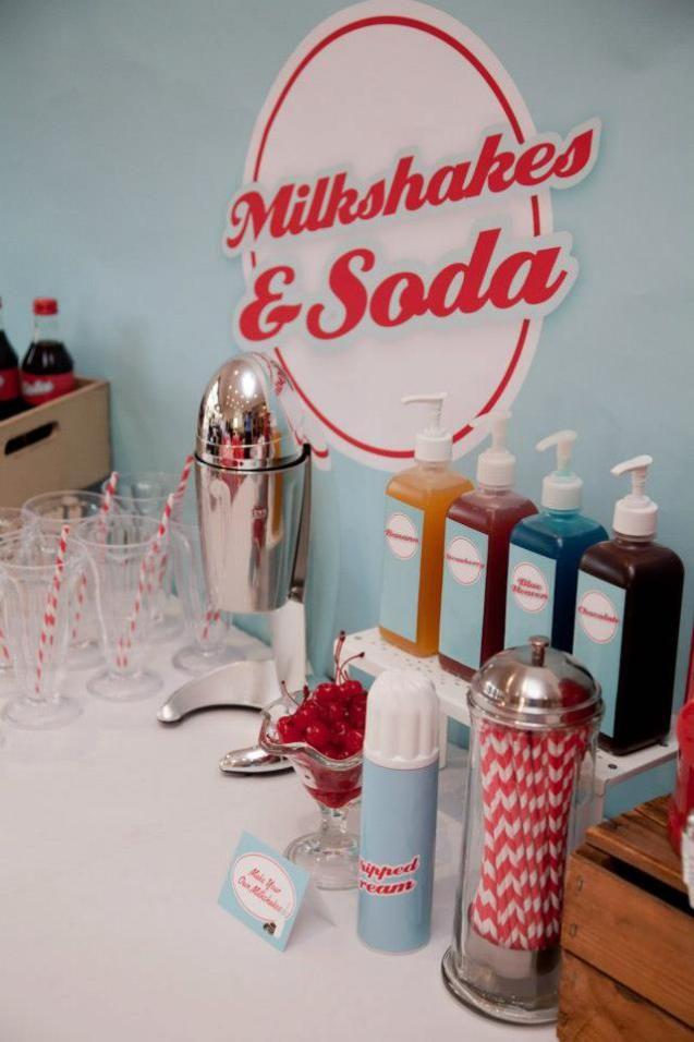 Retro 50 S Diner Milkshake Bar Milkshake And Pumps