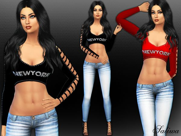 The Sims Resource: Newyork Dream Outfit by Saliwa • Sims 4