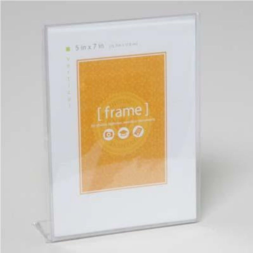 Photo frame 5x7 clear plastic vertical