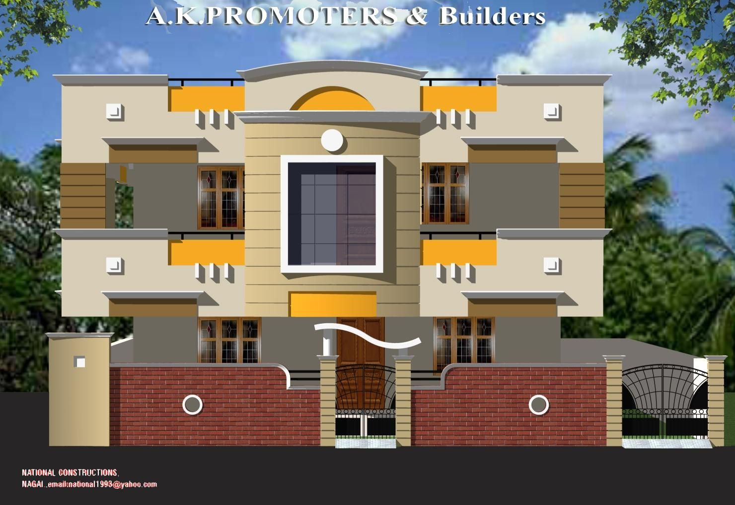 Duplex house elevation mi futura casa pinterest for Front elevation modern house