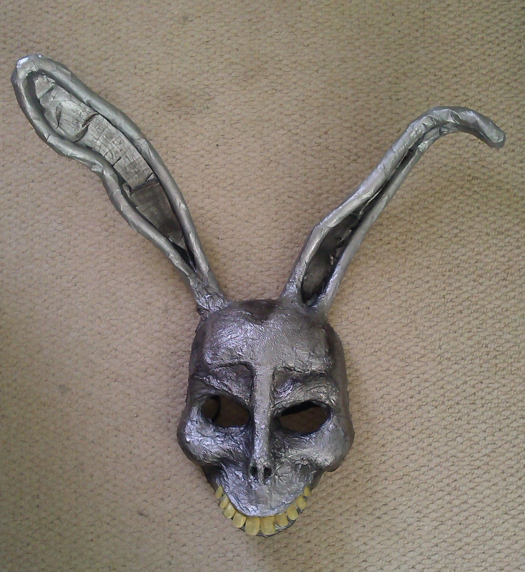 Home made Donnie Darko 'Frank' mask made from a skull mask, papier ...