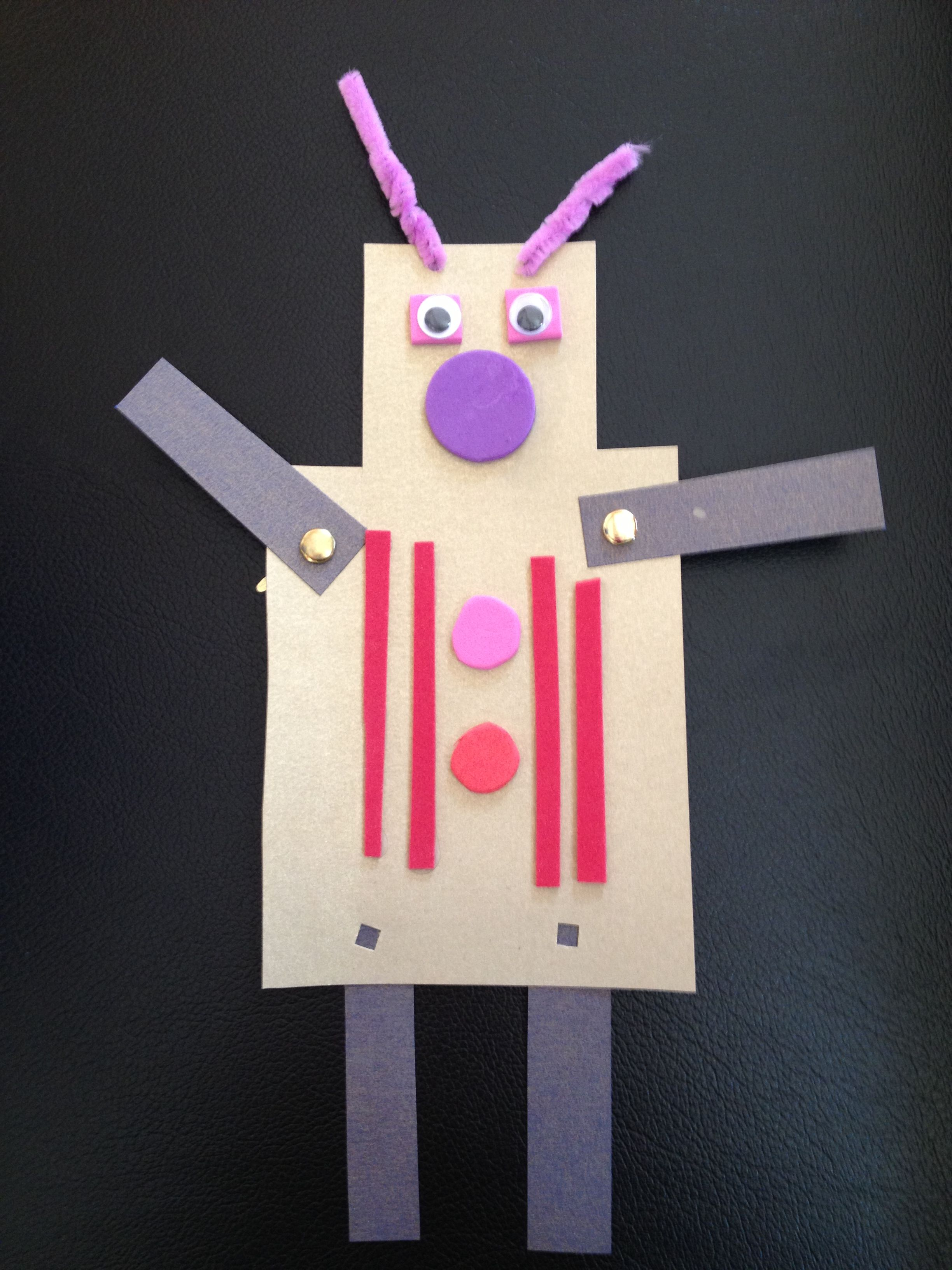 Paper Cut Out Robots with brass fasteners | Paper Robot ...