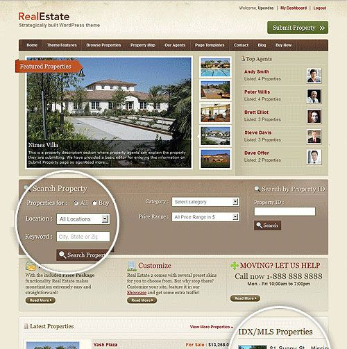 Home rent and sale wordpress themes Themes \ Templates - home for sale template