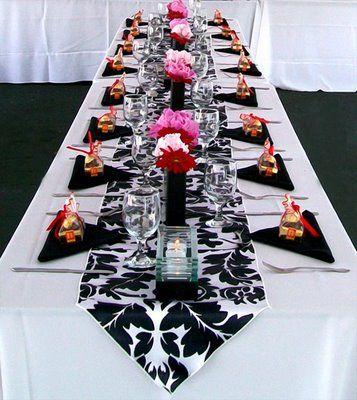 Dcoration noire et blanche mariage thme las vegas dco de table dcoration noire et blanche mariage thme las vegas junglespirit Choice Image