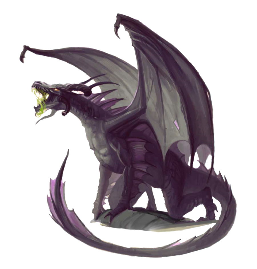 Ancient Black Dragon - Pathfinder PFRPG DND D&D 3 5 5E 5th ed d20
