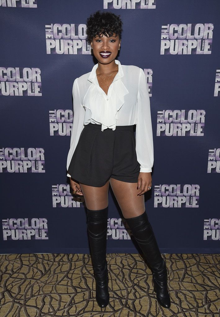 f61a8e375c6 Jennifer Hudson High-Waisted Shorts - Jennifer Hudson Looks - StyleBistro