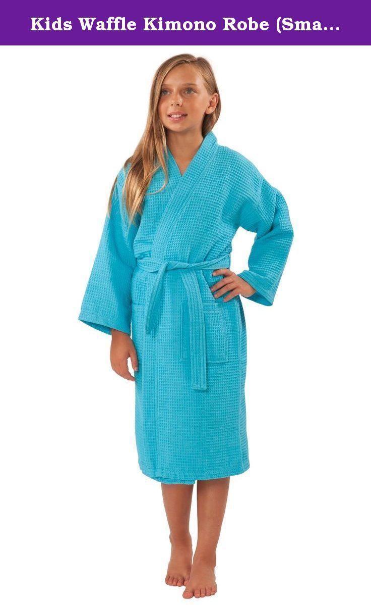 100/% Cotton Waffle Bathrobe Girls Boys Cotton Waffle Hooded Robe Unisex Cover Up
