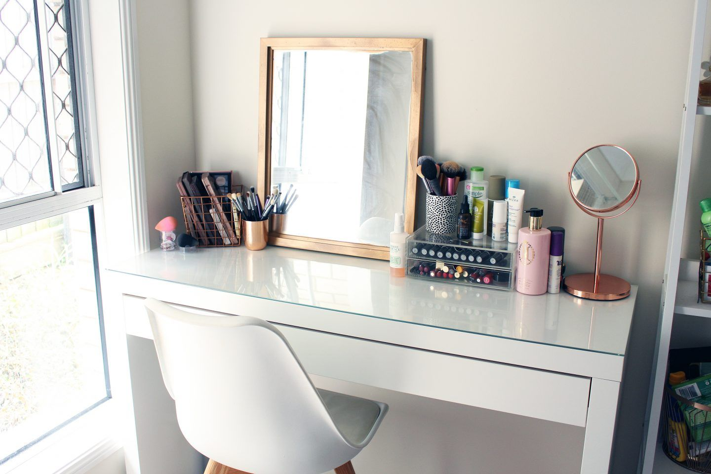 My Ikea Malm Dressing Table and Makeup Collection Ikea