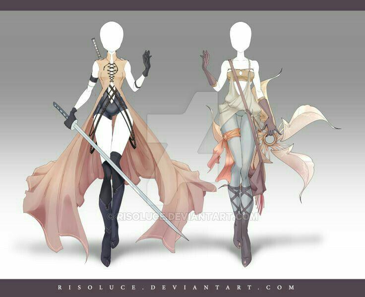 Elegant Warrior And Modern Adventurer Fantasy Clothing Anime