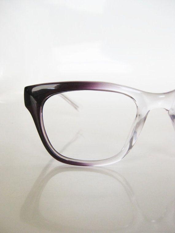 1dfa6a21c0ef Vintage MAD MEN Plum Fade Glasses Eyeglasses Sunglasses Purple Womens 1960s  Horn Rim INDIE on Etsy, $68.00