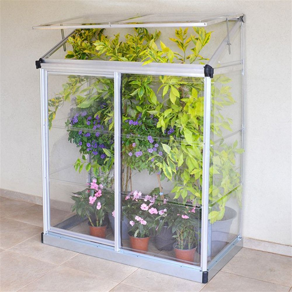 Palram Lean To Mini Greenhouse 4 x 2' Silver | Internet