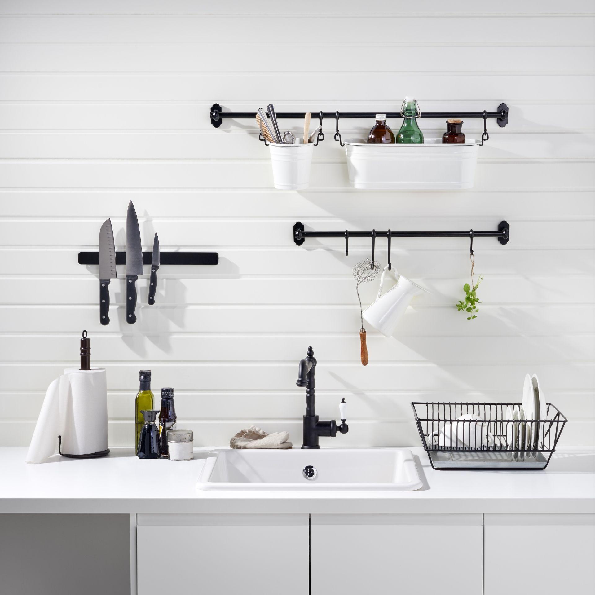 Fintorp Stang Zwart Kitchen Kitchen Rails Kitchen Ikea