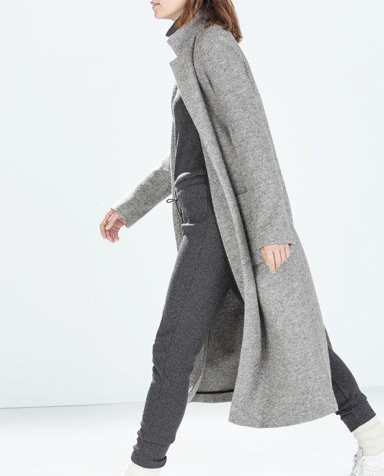 ZARA - SALE - EXTRA LONG COAT | Clothes | Pinterest | Clothes and ...