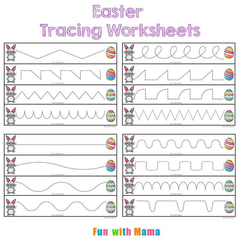 Easter Tracing Worksheets For Preschoolers Tracing Worksheets