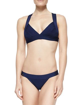 Summer+Cross-Back+Bandage+Top+&+Swim+Bottom+by+Herve+Leger+at+Bergdorf+Goodman.