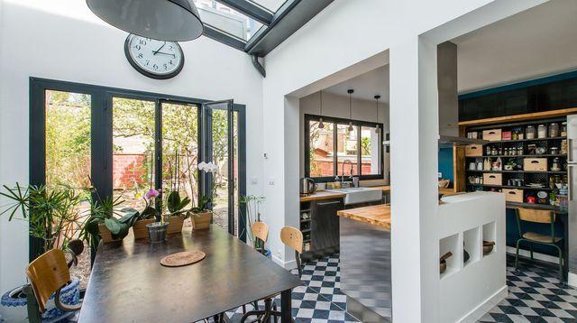Maison moderne a Vincennes : une métamorphose réussie avec extension ...
