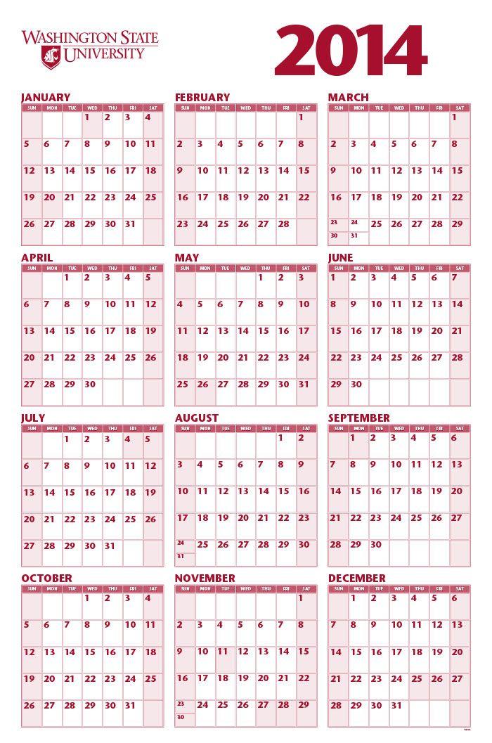 Pocket Calendar 2014 Free Template #14 - http://onlinecalendarweb ...